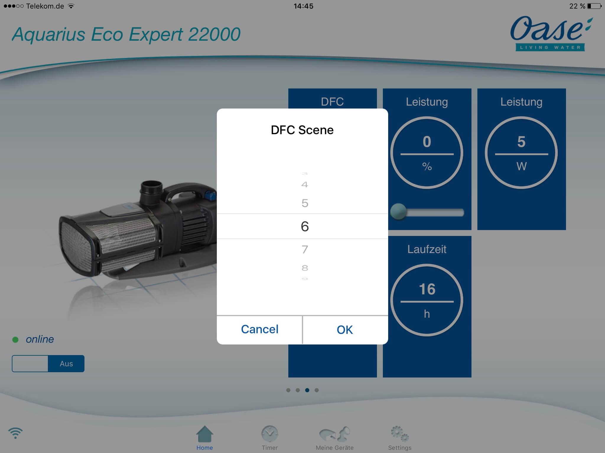 DFC Auswahl OASE App