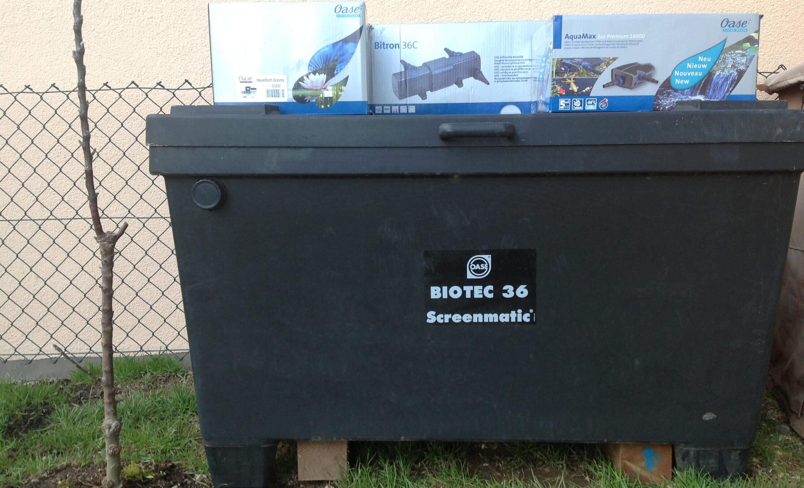 BioTec ScreenMatic 36 als Teichfilter