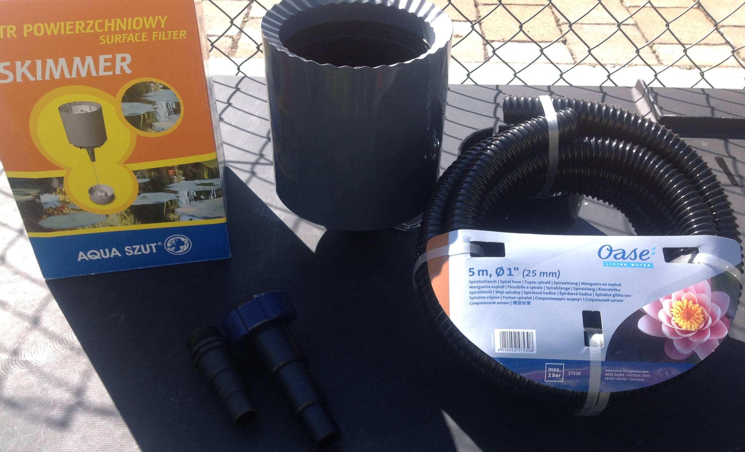 Oberflächenabsaugung / Skimmer für den Gartenteich